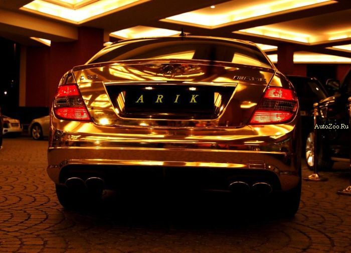 mercedes benz c63 gold