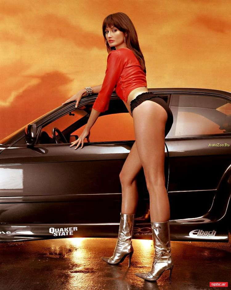 Sexy girl and sport car