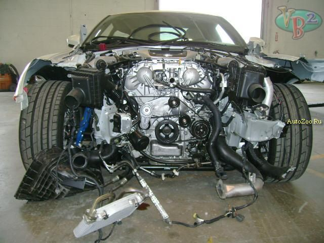 totally crashed nissan gtr