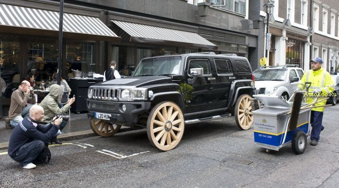 hummer h3 wooden wheels