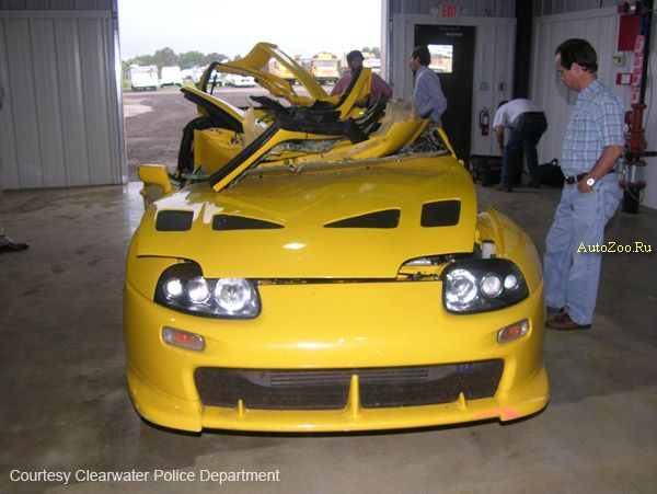 Nick Hogan's totaled Supra