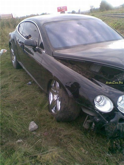 totalled bentley continental gt