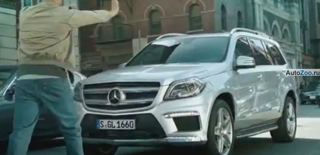 первое видео нового Mercedes Benz GL