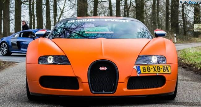 Orange Bugatti Veyron Vesenniy Event 2013 1