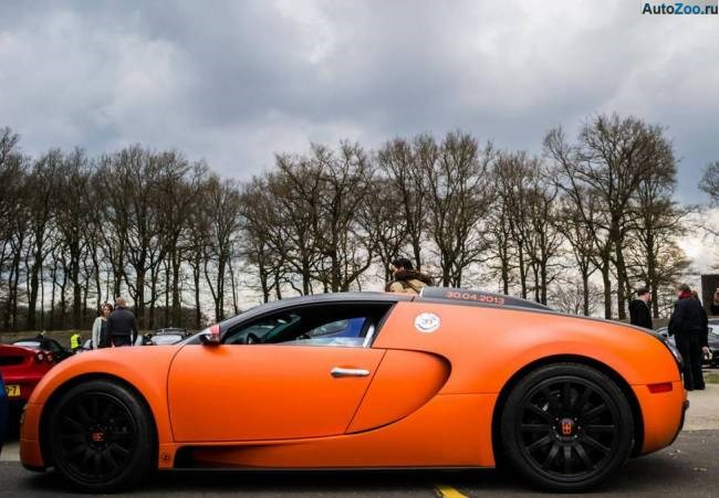 Orange Bugatti Veyron Vesenniy Event 2013 2
